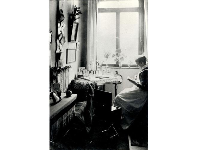 Schwesternzimmer im Viktoriahaus für Krankenpflege ca. 1884