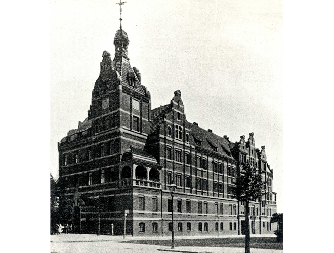 Viktoriahaus für Krankenpflege kurz nach der Fertigstellung ca. 1884